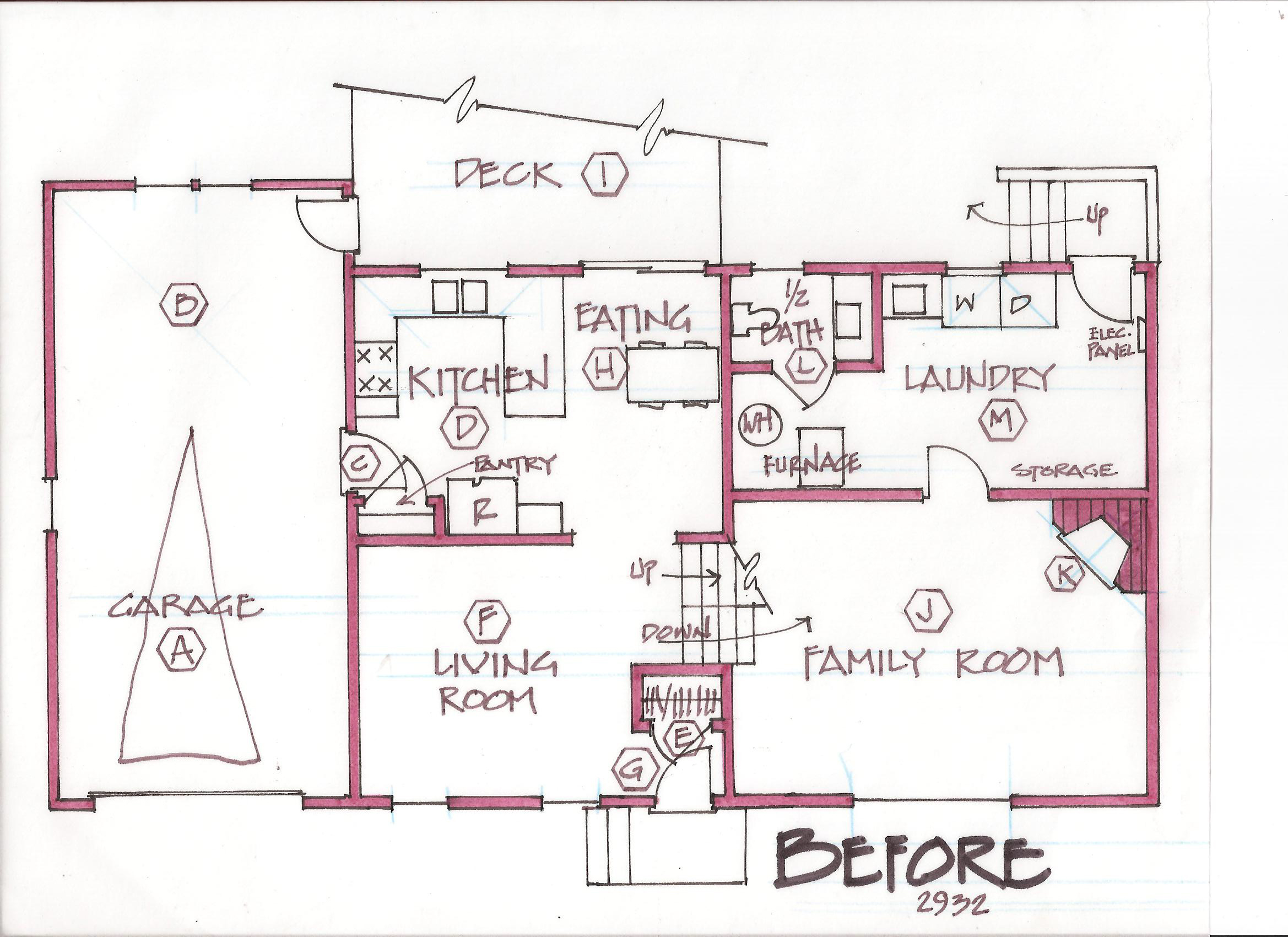 Free home plans tri level house plans for Remodel house plans