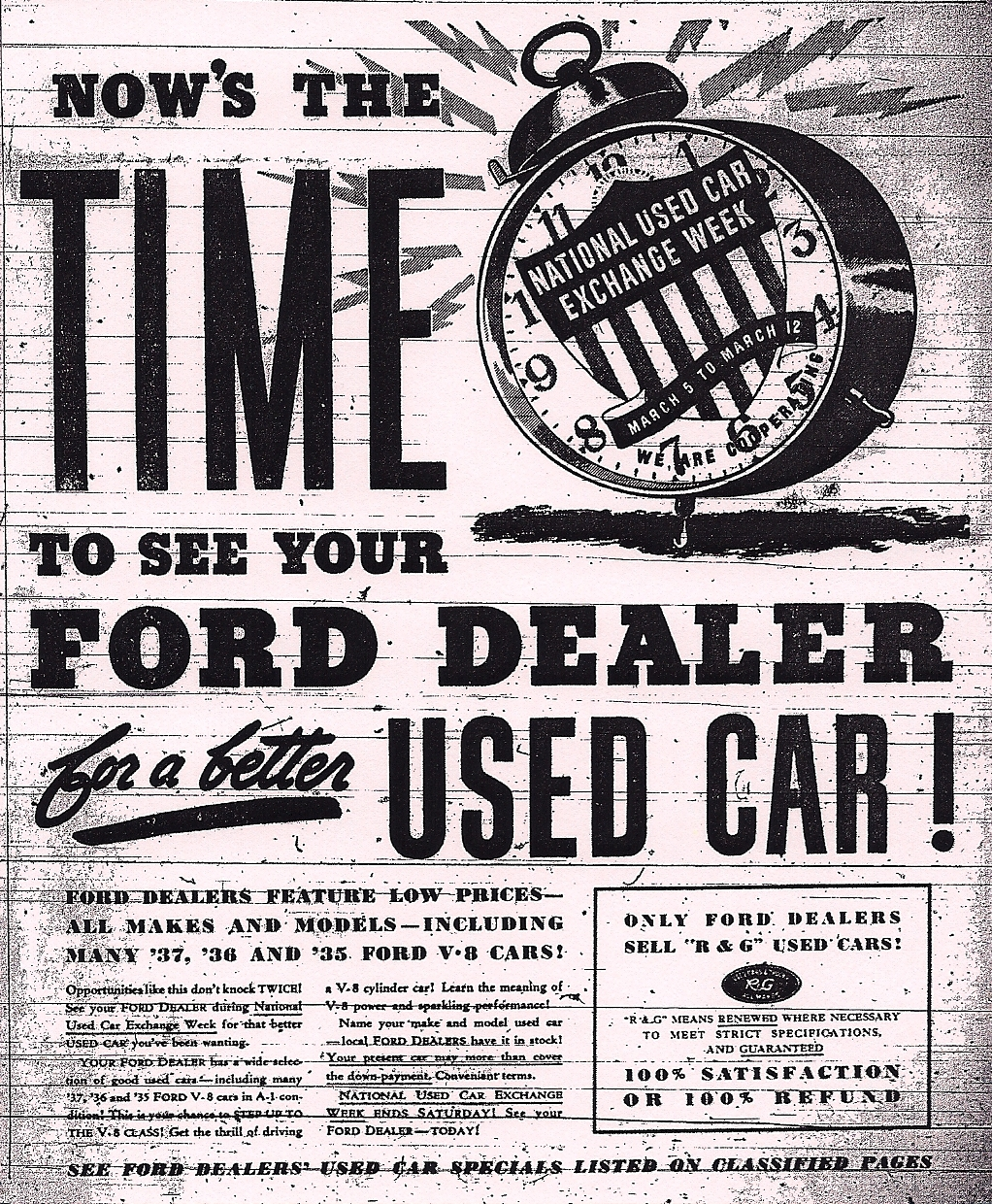 """Cold Off The Presses: """"Cash For Clunkers"""" In 1938 Ypsilanti"""
