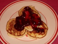 Thumbnail image for Bilyeu Ricotta Latkes with Purple Raspberry Sauce.JPG
