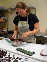 Shikes Haines - Nancy Biehn at work at Sweet Gem Confections