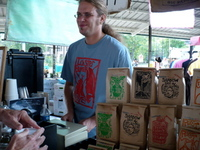 Shikes Haines - Brian Barch at the Roos Roast stall