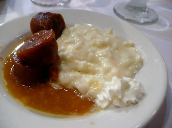 Shikes Haines - rice pudding and plantains