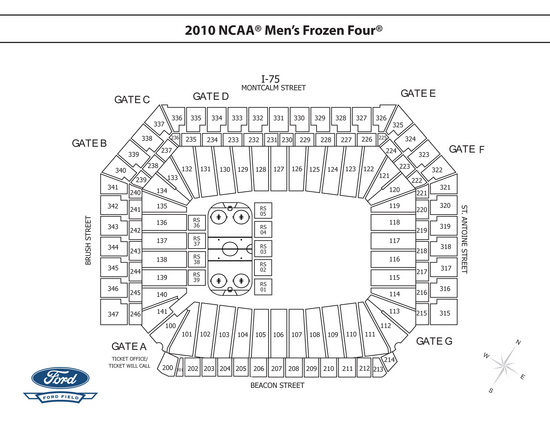 ford center seating diagram