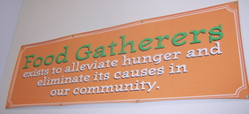 Borden - Food Gatherers mission statement sign