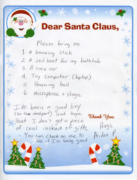 enter your childs santa letter in annarborcoms 2010 letters to santa gallery and sweepstakes