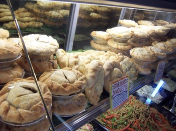 Borden - pot pie display at Zingermans