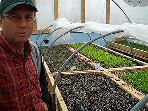 Borden - Tom Zilke in his greenhouse