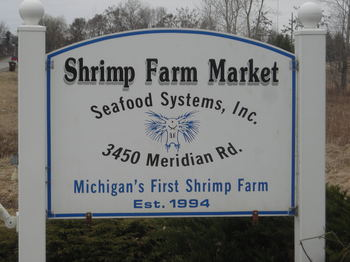 Borden - The Shrimp Farm Market Sign
