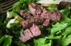 Borden - Lamb Farm beef on top of salad