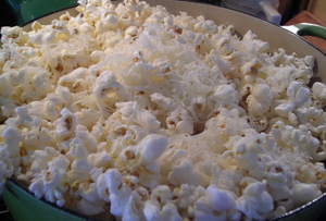 Borden - cheese melting on top of popcorn