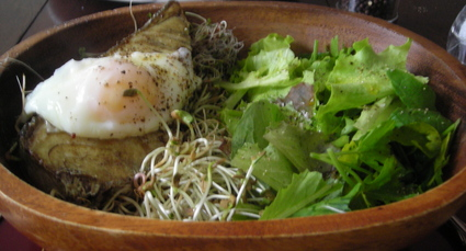 Borden - fish, poached egg salad