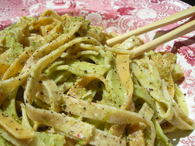 Borden - Scape pesto on pasta