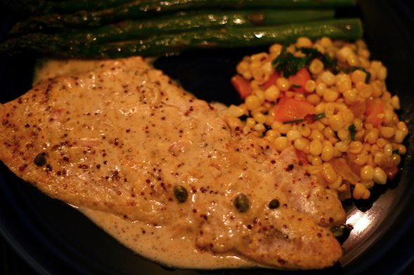 Mustard-roasted fish recipe is easy even for the fish novice