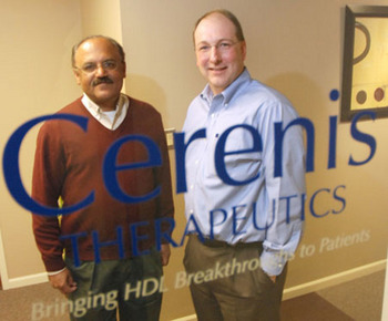 Cerenis Therapeutics Narendra Lalwani and Bill Brinkerhoff.jpg