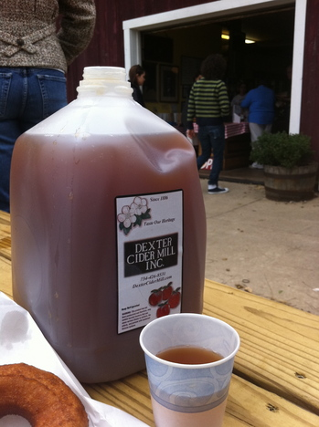 Borden - dexter cider and donuts in front of entrance