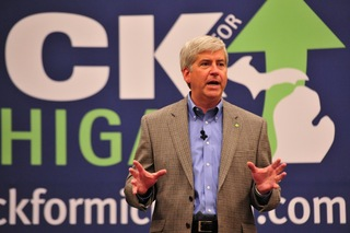 Rick Snyder at rally.jpg