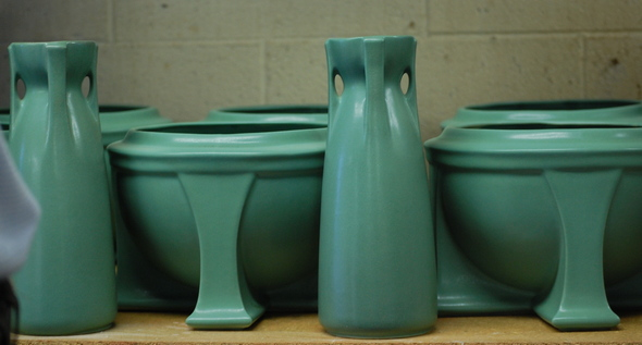 Ann arbor 39 s motawi tileworks enters new market with for Arts and crafts pottery makers