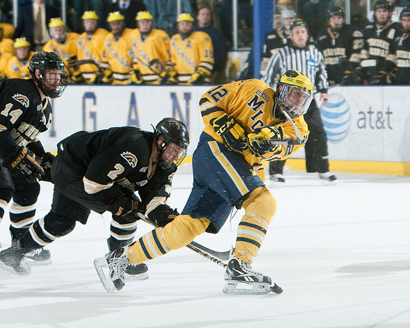innovative design 5da7c 021bf Swedish Michigan hockey captain Carl Hagelin finds a second ...