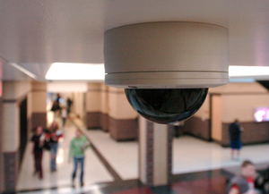 video surveillance on public place