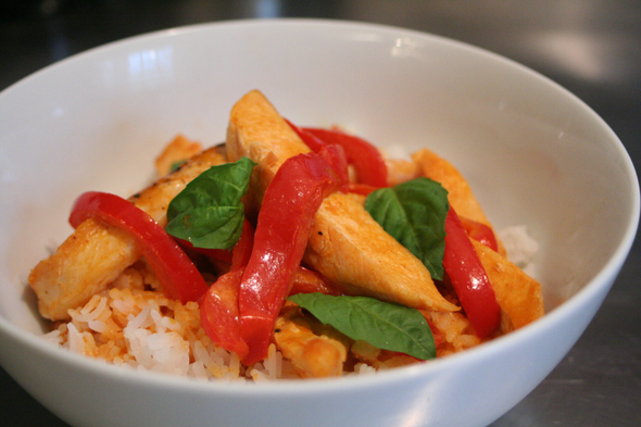 Easy weeknight Thai red curry chicken