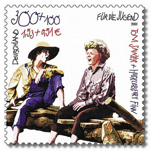 Thumbnail image for 0727 Huckelberry Finn and Tom Sawyer in German millennial stamp.jpg