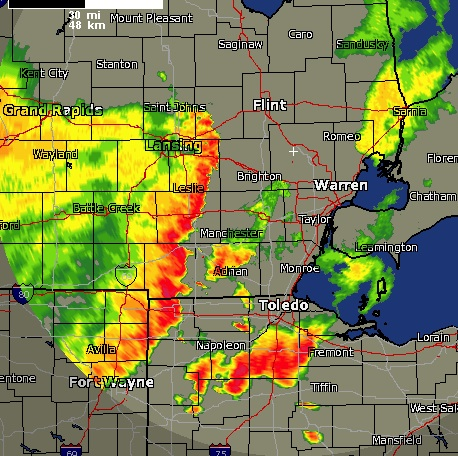 Severe Thunderstorms Radar