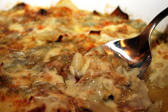 ... photogenic, but this creamed onion gratin is incredibly tasty