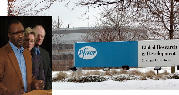 Pfizer_collage_Michael_Finney_Jennifer_Granholm_John_Hieftje.jpg