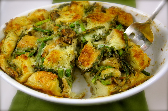 Asparagus Bread Pudding is the perfect spring side dish to ...