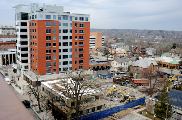 The Varsity Demolition Begins For 13 Story High Rise In Downtown Ann Arbor