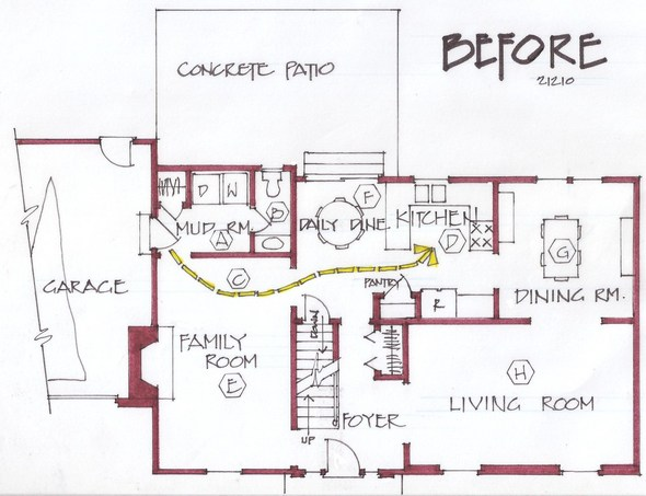 New First Floor Bedroom Spurs Improvements Throughout Home: first floor master bedroom addition plans