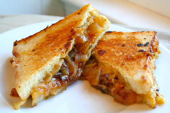 ... beef broth turn this grilled cheese into a French onion soup sandwich