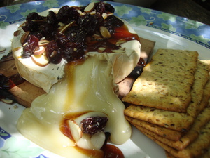 grilledbriewithcherries.JPG