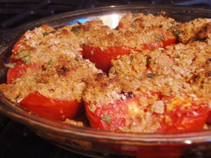 bakedtomatoeswithlemonmatzahcrumbs.JPG