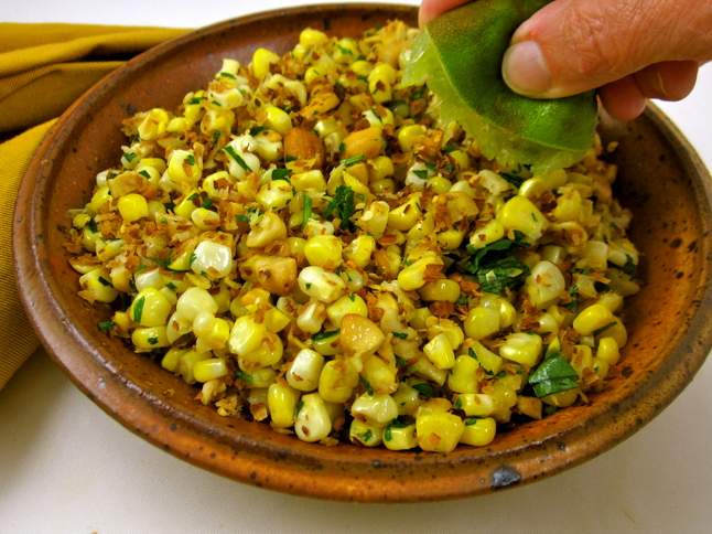 and corn in coconut corn salad recipe coconut corn salad photography ...