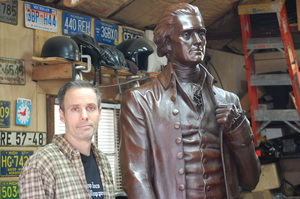 Foundryman ad McKillop with bronze Jefferson.JPG