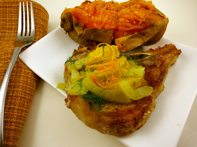 Fennel-Orange Pork Chops - a heavenly flavor combination