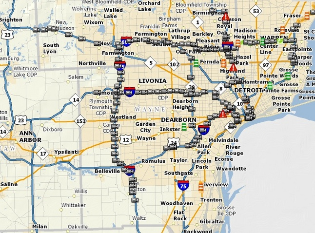 Online Traffic Monitoring System For Washtenaw County Freeways Delayed