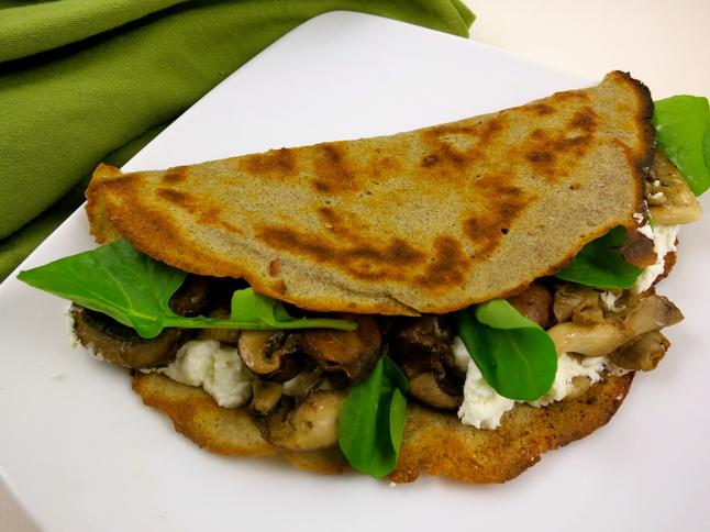 Buckwheat Crepes With Goat Cheese Watercress Thin Savory Pancakes Are Easier To Make Than You Might Think