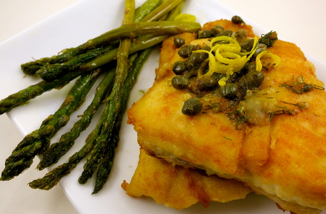 Halibut With Lemon, Butter, Caper And Dill Sauce Recipes ...