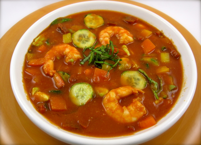Mix & Match Shrimp Gazpacho