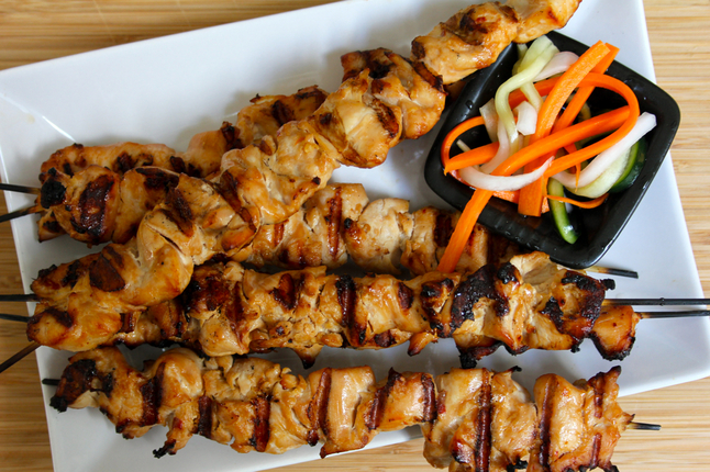 Chicken skewers and Vietnamese pickled vegetables for the dog days of ...