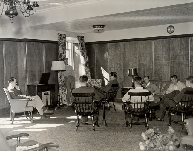 ca. 1950s Interior of East Quad Lounge UM Alumni Association HS9212-crop.jpg