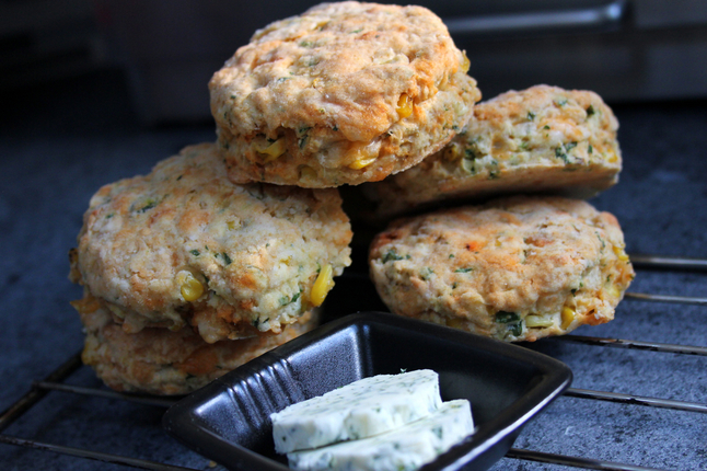 ... biscuits are great with a fresh salad, a bowl of chili, or a slab of