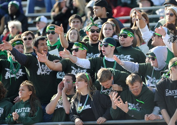 Eastern Michigan fans cheer during the football game against Buffalo. Angela J. Cesere | AnnArbor.com