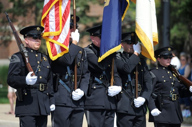 The Washtenaw County Sheriff's Department Honor Guard headed the  Ypsilanti Fourth of July parade down cross street on Wednesday morning.  Angela J. Cesere | AnnArbor.com