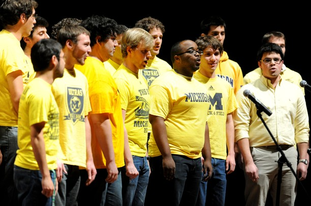 The Men's Glee Club performs the National Anthem at the beginning of Mock Rock at Hill Auditorium. Angela J. Cesere | AnnArbor.com