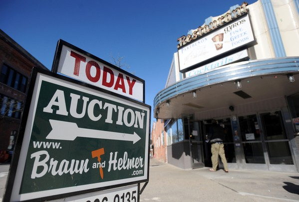 The Parthenon held an auction to sell much of the restaurant's furniture, equipment, and decorations on Wednesday morning. Angela J. Cesere | AnnArbor.com