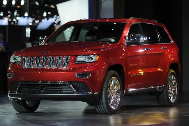 The 2013 Jeep Grand Cherokee at the North America International Auto Show during the press preview on Monday, Jan. 14, at Cobo Center in Detroit.   Melanie Maxwell I AnnArbor.com