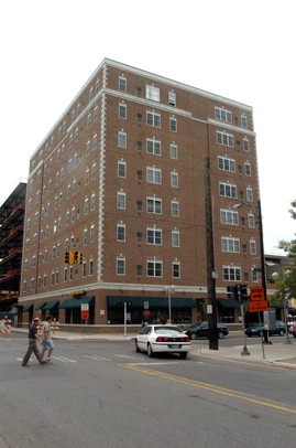 A two-bedroom apartment at the Corner House Lofts at State Street and Washington Street costs between $1,800 to $3,000 a month. CMB Management President Amy Khan said more graduate students are living in the complex then ever before. It was built in 2008.